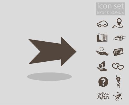 arrowheads: Arrow icon. Vector concept illustration for design.