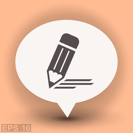 Pictograph of note. Vector concept illustration for design. Eps 10