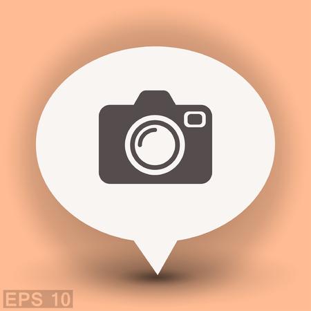 Pictograph of camera. Vector concept illustration for design. Eps 10 Illustration