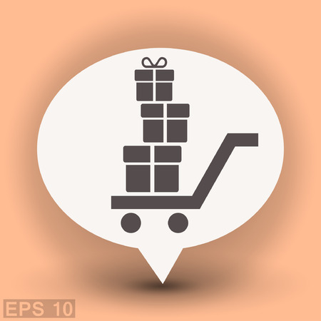 Pictograph of gift. Vector concept illustration for design. Eps 10