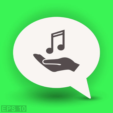 Pictograph of music. Vector concept illustration for design. Eps 10