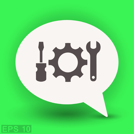 Pictograph of gear. Vector concept illustration for design. Eps 10