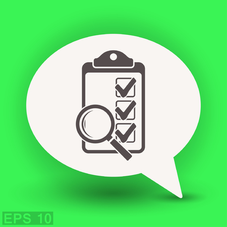 Pictograph of checklist. Vector concept illustration for design. Eps 10