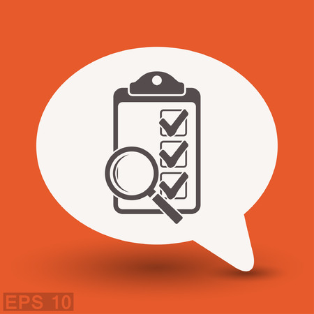 Pictograph of checklist. Vector concept illustration for design. Illustration