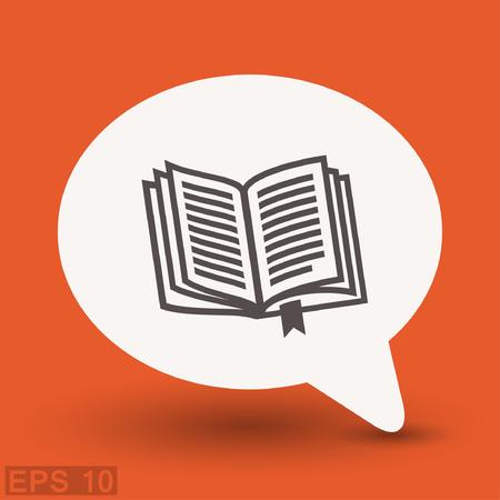 Pictograph of book. Vector concept illustration for design. Illustration