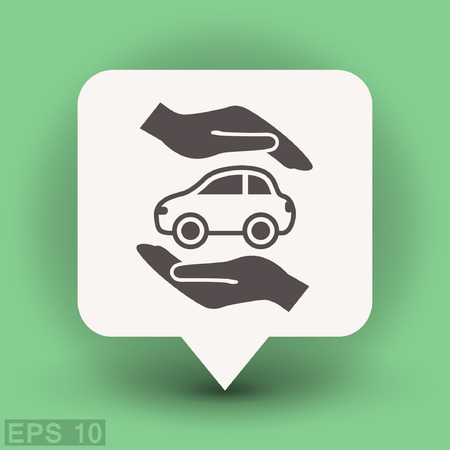 Pictograph of car. Vector concept illustration for design. Illustration