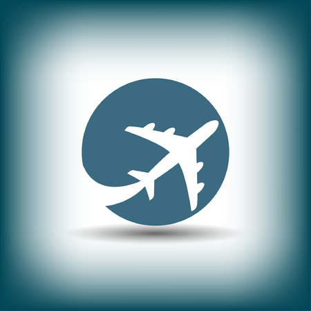 turbine engine: Pictograph of airplane. Vector concept illustration for design. Eps 10