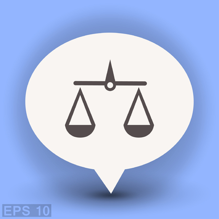 Pictograph of justice scales. Vector concept illustration for design