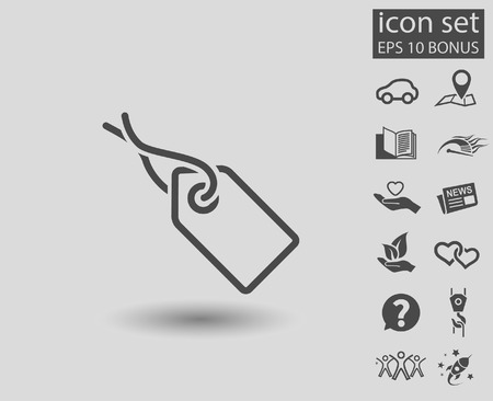Pictograph of tag. Vector concept illustration for design. Eps 10 Illustration