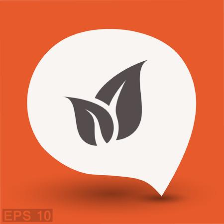 Pictograph of eco. Vector concept illustration for design. Eps 10 Illustration