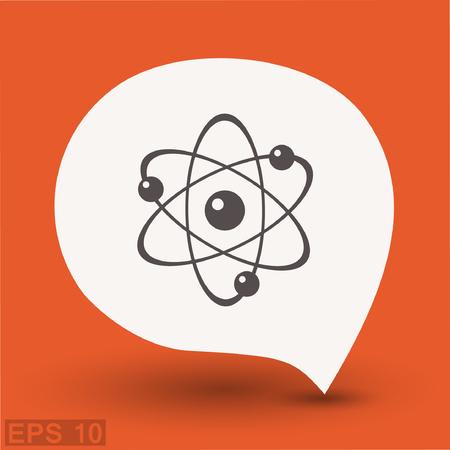 ellipse: Pictograph of atom. Vector concept illustration for design. Eps 10 Vectores