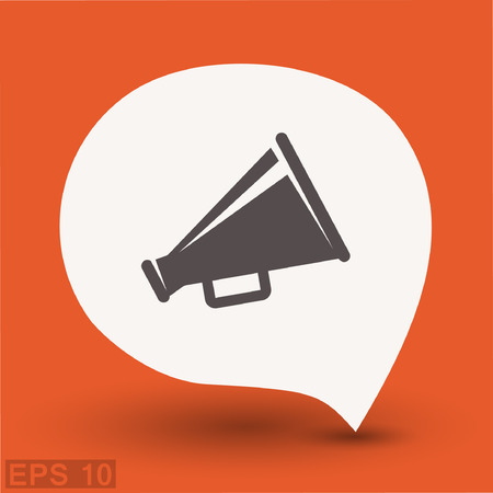 Pictograph of megaphone. Vector concept illustration for design. Eps 10