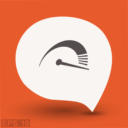 Pictograph of speedometer. Vector concept illustration for design. Eps 10