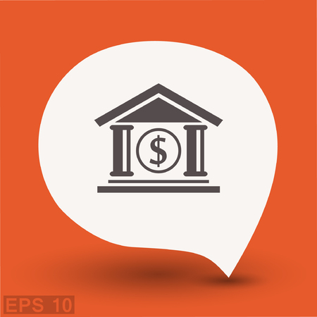 Pictograph of bank. Vector concept illustration for design. Eps 10