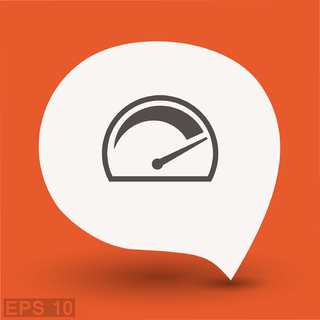 Pictograph of speedometer. Vector concept illustration for design. Illustration