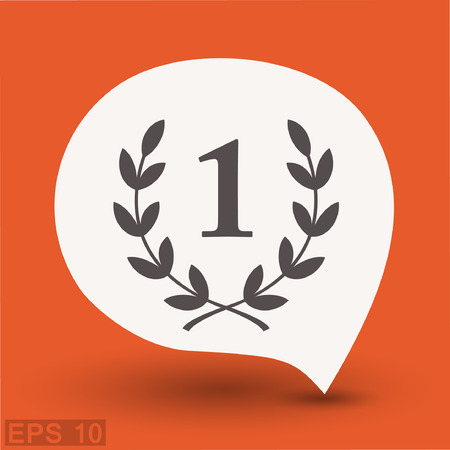 Pictograph of laurel wreath. Vector concept illustration for design.