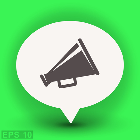 proclaim: Pictograph of megaphone. Vector concept illustration for design.