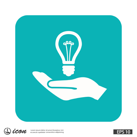 Pictograph of light bulb. Vector concept illustration for design.