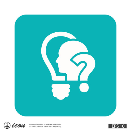 Pictograph of question mark and man. Vector concept illustration for design. Illustration