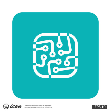 circuitboard: Pictograph of circuit board. Vector concept illustration for design.