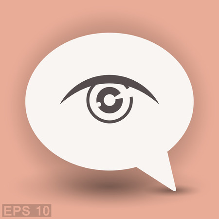 sight: Pictograph of eye. Vector concept illustration for design. Eps 10