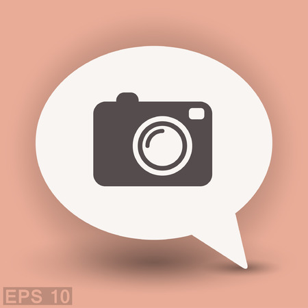 objetivo: Pictograph of camera. Vector concept illustration for design. Eps 10 Vectores