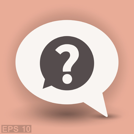 Pictograph of question mark. Vector concept illustration for design. Eps 10