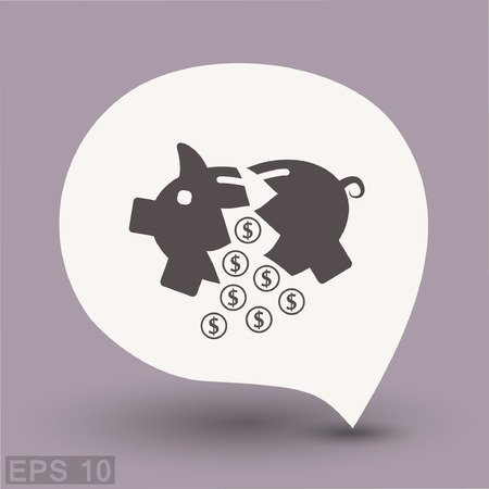 Pictograph of moneybox. Vector concept illustration for design. Eps 10