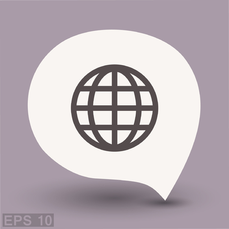 Pictograph of globe. Vector concept illustration for design. Eps 10