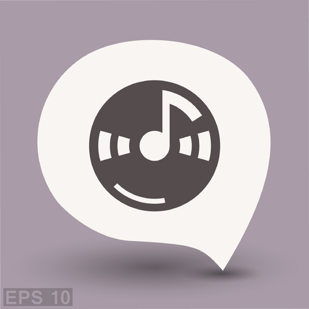 Pictograph of music note. Vector concept illustration for design. Eps 10