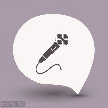 Microphone icon. Vector concept illustration for design. Eps 10