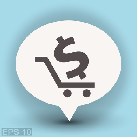Pictograph of money. Vector concept illustration for design. Eps 10