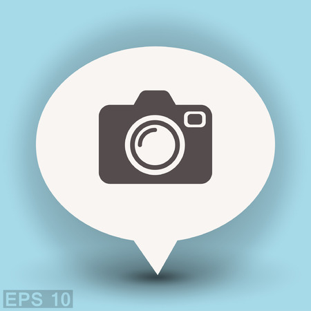 Pictograph of camera. Vector concept illustration for design. Eps 10 Illustration