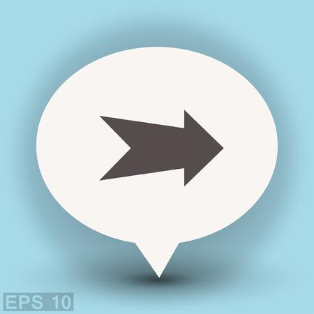 eps vector icon: Arrow icon. Vector concept illustration for design. Eps 10