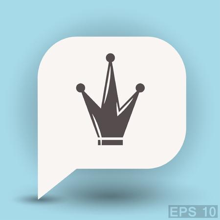 Pictograph of crown. Vector concept illustration for design. Eps 10 Illustration