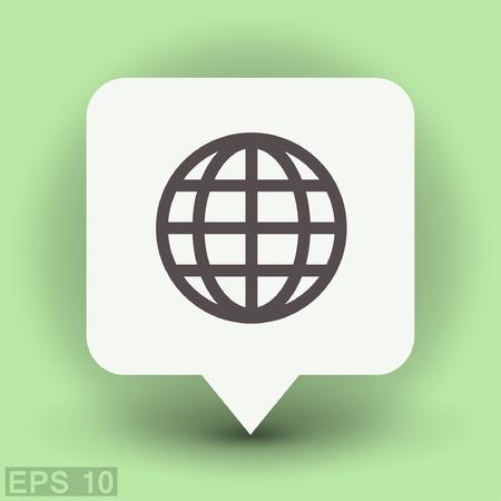 Pictograph of globe. Vector concept illustration for design.