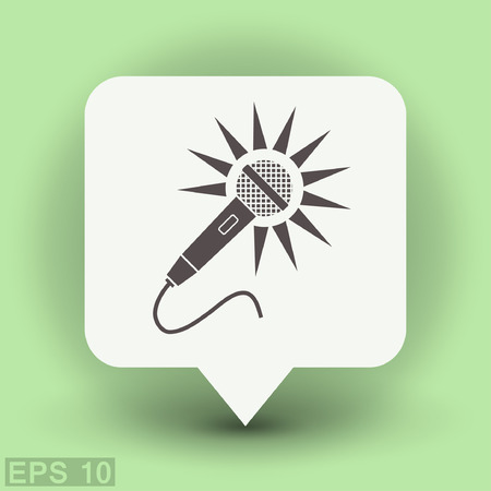 Microphone icon. Vector concept illustration for design.