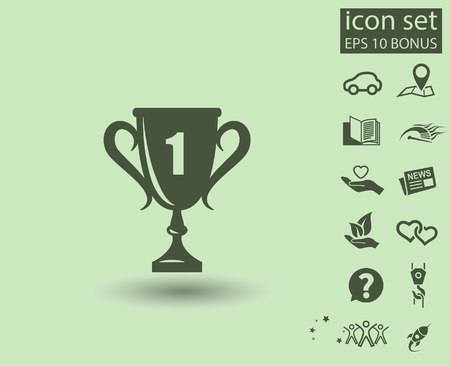 Pictograph of champions cup. Vector concept illustration for design.