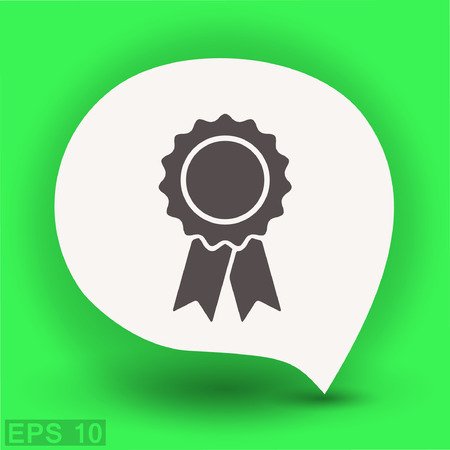 Pictograph of award. Vector concept illustration for design.