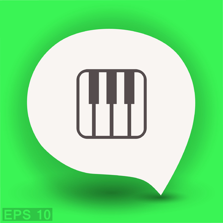 Pictograph of music keyboard. Vector concept illustration for design.