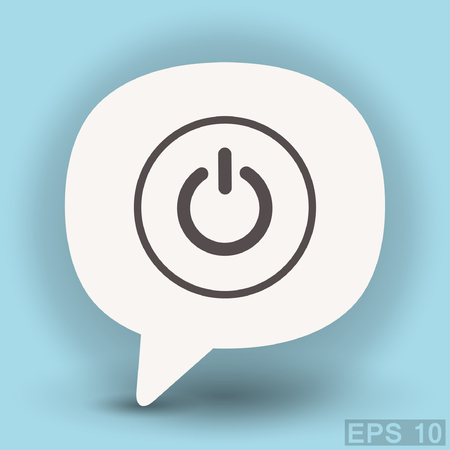 switch off: Pictograph of power. Vector concept illustration for design. Eps 10