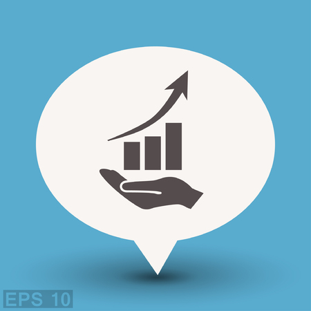 Pictograph of graph. Vector concept illustration for design.