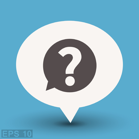 Pictograph of question mark. Vector concept illustration for design.