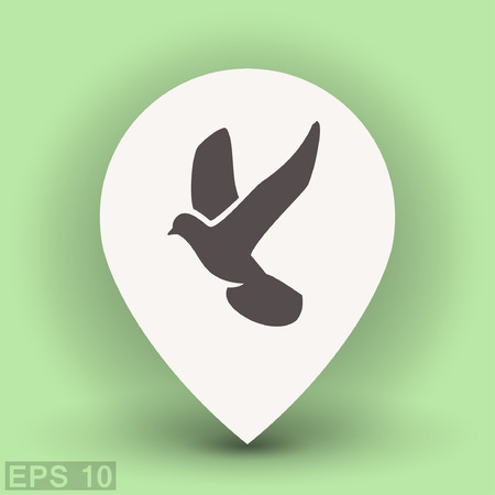 Pictograph of bird. Vector concept illustration for design. Eps 10 Illustration