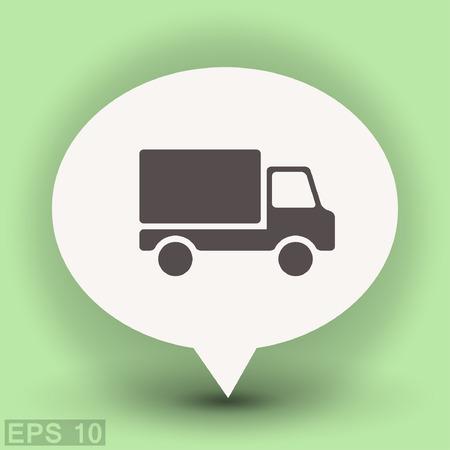 Pictograph of truck. Vector concept illustration for design. Eps 10 Illustration