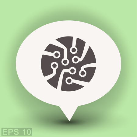 Pictograph of circuit board. Vector concept illustration for design. Eps 10 Illustration