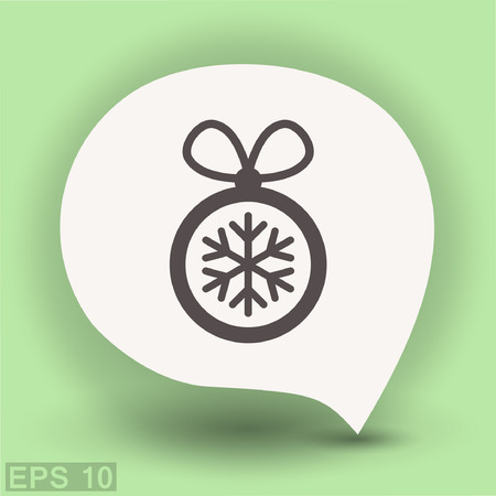 Pictograph of christmas ball. Vector concept illustration for design.