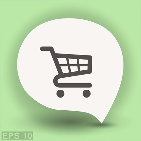 Pictograph of shopping cart. Vector concept illustration for design.