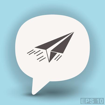 turbine engine: Pictograph of airplane. Vector concept illustration for design. Illustration