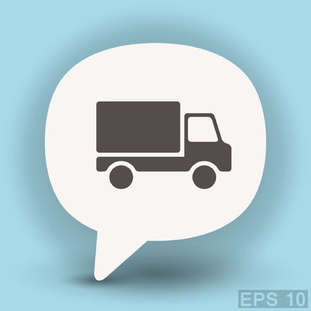Pictograph of truck. Vector concept illustration for design.